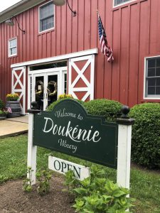 Wine and Cheese event at Doukenie Winery.