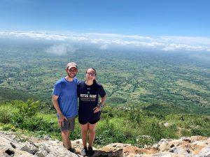 Kyra and Logan, at Mòn Prenti (Prayer Mountain)