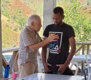 Dr. George Bazaco holding office hours in Dominican Republic