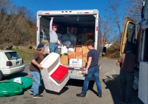 Deliver food and supplies to Rock Lick Food Pantry